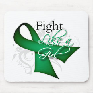Ribbon - Fight Like a Girl - Liver Disease Mouse Pad