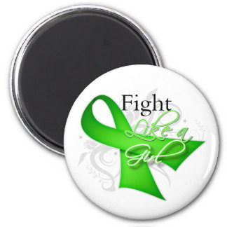 Ribbon - Fight Like a Girl - Non-Hodgkins Lymphoma 6 Cm Round Magnet