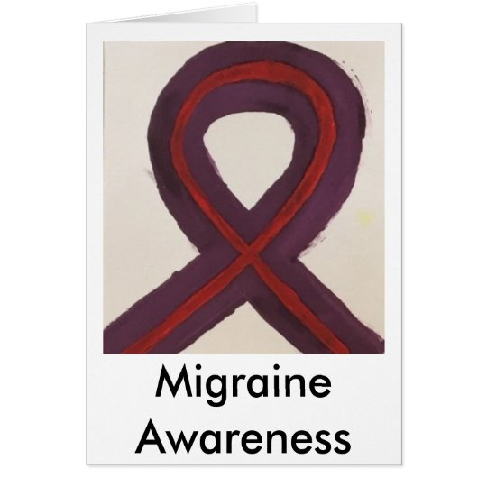 Ribbon for Migraine Awareness Card