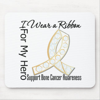 Ribbon For My Hero - Bone Cancer Mouse Pads
