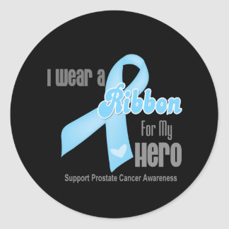 Ribbon For My Hero - Prostate Cancer Round Sticker