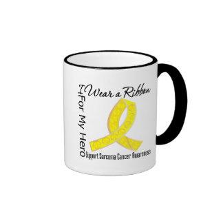 Ribbon For My Hero - Sarcoma Cancer Ringer Mug