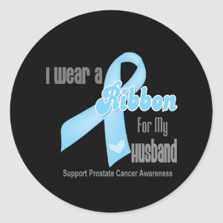 Ribbon For My Husband - Prostate Cancer Sticker