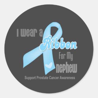 Ribbon For My Nephew - Prostate Cancer Round Stickers