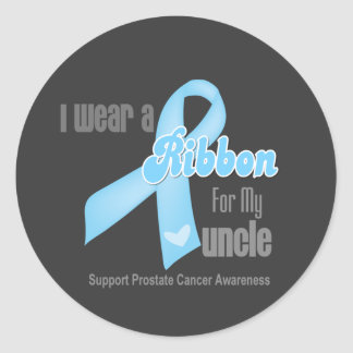 Ribbon For My Uncle - Prostate Cancer Round Sticker