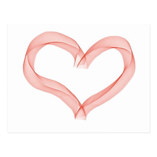 Ribbon heart postcard