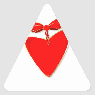 Ribbon Heart Triangle Sticker