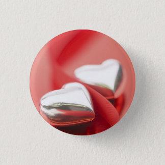 Ribbon Hearts 3 Cm Round Badge