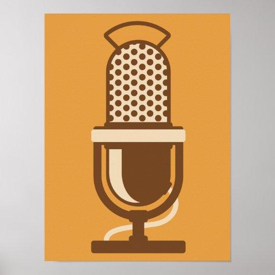 Ribbon Microphone Logo Poster