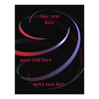 Ribbon multicolor spiral classy 21.5 cm x 28 cm flyer