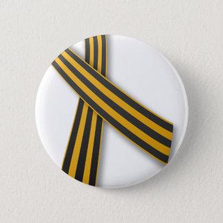 Ribbon of Saint George 6 Cm Round Badge