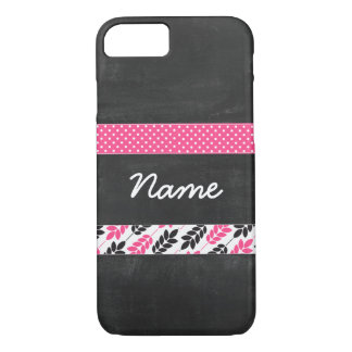 Ribbon pattern with Blackboard Texture- Phone case