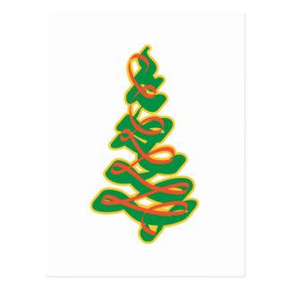 Ribbon Pine Tree Postcards