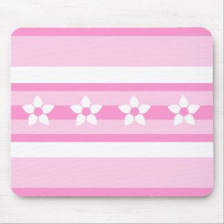 Ribbon Pink Flowers Mousepad