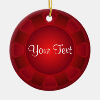 Ribbon Red Blank to Customize Christmas Ornament
