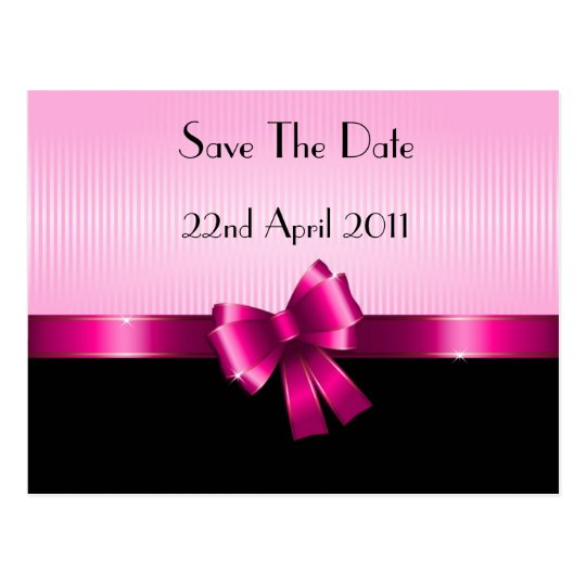 Ribbon Save the Date postcard