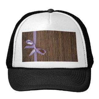 Ribbon Stripe Mesh Hats