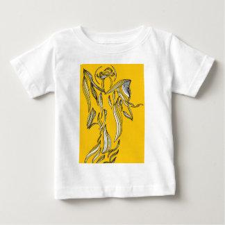 Ribbon Style Abstract Angel Gold Yellow Shirt