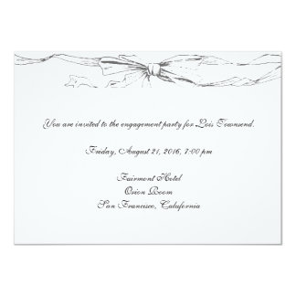 Ribbon Victorian Bow 11 Cm X 16 Cm Invitation Card