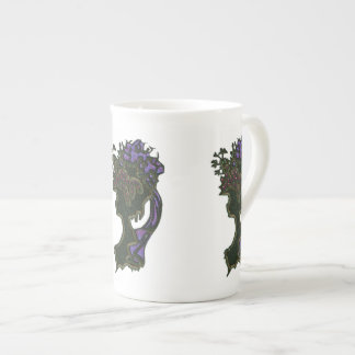 Ribboned Hat Cameo Bone China Mug