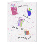 Ribbons and Bows Happy 95th Birthday Greeting Greeting Card