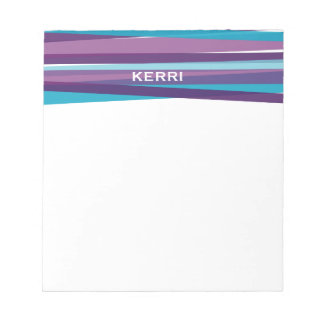 Ribbons - Blue and Purple Notepad