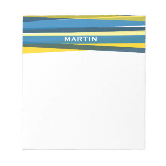 Ribbons - Blue and Yellow Notepad