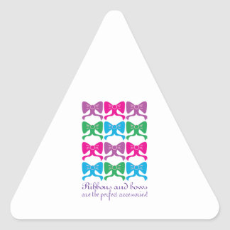 Ribbons & Bows Perfect Accessories Triangle Sticker