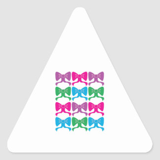 Ribbons & Bows Triangle Sticker