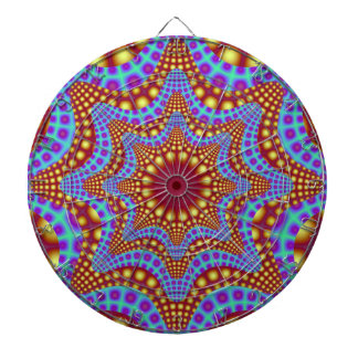 Ribbons in Purple and Green Dartboard