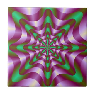 Ribbons in Purple and Green tile