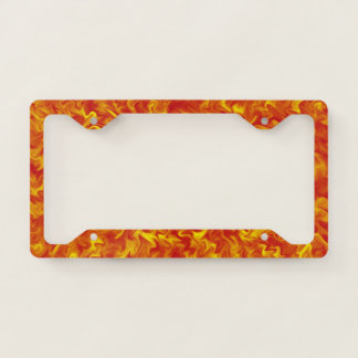 Ribbons of Fire Licence Plate Frame
