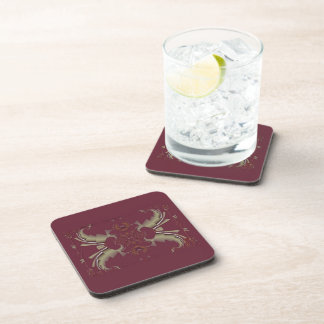 Ribbons to Claws - Burgundy Coasters