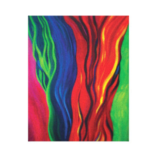Ribbons WRAPPED CANVAS Stretched Canvas Prints