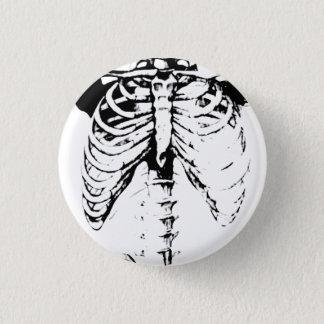 Ribcage Skeleton Goth button pin