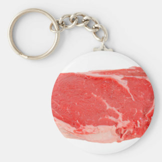Ribeye Steak uncooked Key Chain