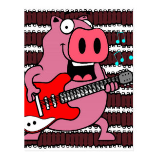 ribs rock pig postcard