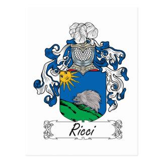 Ricci Family Crest Postcard