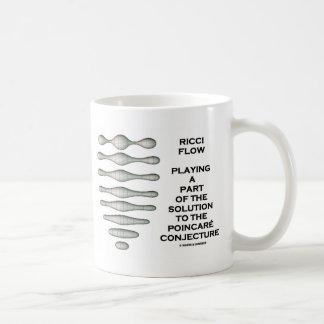Ricci Flow Solution Poincaré Conjecture (Geometry) Basic White Mug