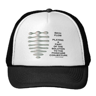 Ricci Flow Solution Poincaré Conjecture (Geometry) Trucker Hat