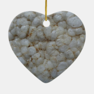 Rice Cake ,  Healthy Food, White Snack Christmas Ornament