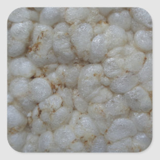 Rice Cake ,  Healthy Food, White Snack Square Sticker