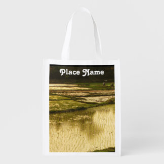Rice Paddy Reusable Grocery Bags