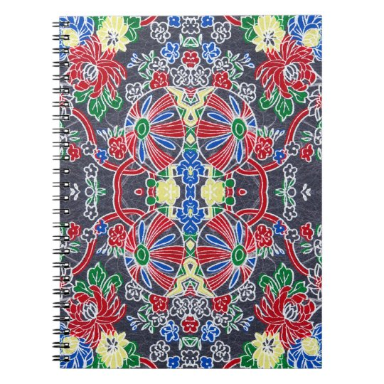 Rice Paper Chiyogami Art Spiral Notebook