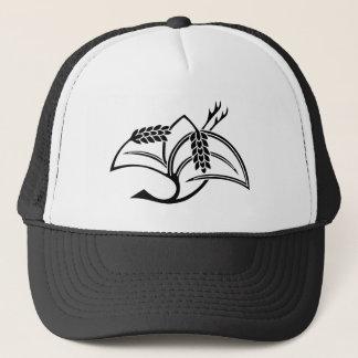 Rice plant crane trucker hat