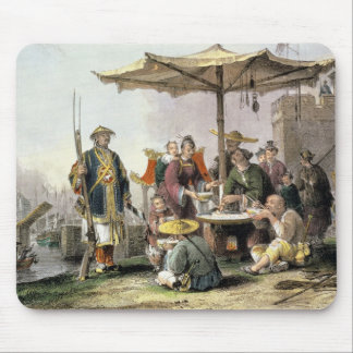 Rice Sellers at the Military Station of Tong-Chang Mouse Pad