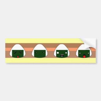 riceball  line bumper sticker