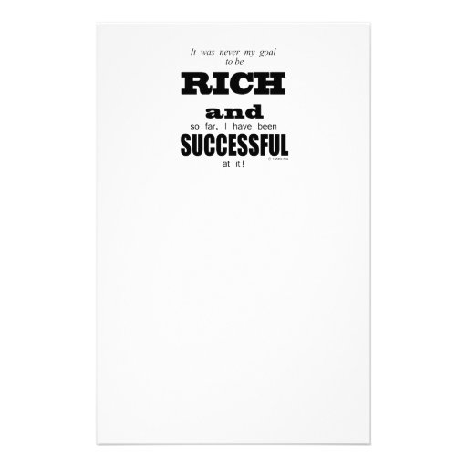 Rich And Successful Stationery Paper