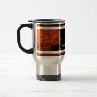 Rich Autumn Leaf Stainless Steel Travel Mug