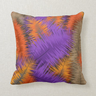 Rich Bright Autumn Fall Abstract Pattern Throw Pillow